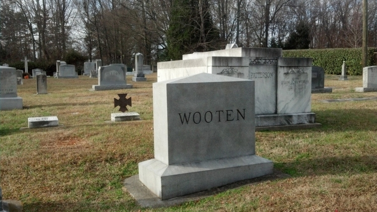 Dr. W.H. Wooten and Monroe Jetton are buried near one another in the Davidson College cemetery on North Main Street. (David Boraks/© 2014 DavidsonNews.net)