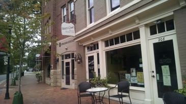 The Upper Crust Bar & Social Club is open above Millstone Bakehouse. (David Boraks photo)