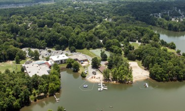 The Lake Norman YMCA has been celebrating 40 years in its home on Lake Cornelius – on land that once was a swamp. (©2014 David Boraks)