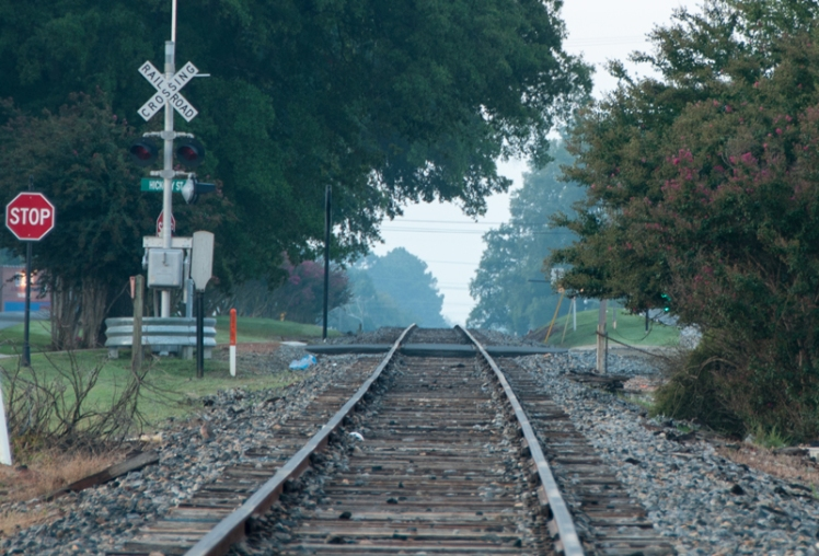 Norfolk Southern tracks, downtown Cornelius, NC (©2015 David Boraks)