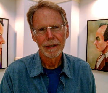 """An exhibit of new oil paintings by Ed Harris, titled """"Living & Dying,"""" is at Davidson Town Hall through Oct. 18, 2015. (©David Boraks)"""
