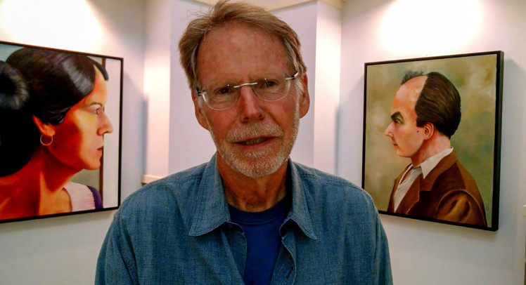 "An exhibit of new oil paintings by Ed Harris, titled ""Living & Dying,"" is at Davidson Town Hall through Oct. 18, 2015. (©2015 David Boraks)"