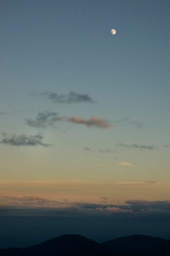 Moon over the mountains, at Wildacres. (©2008 David Boraks)