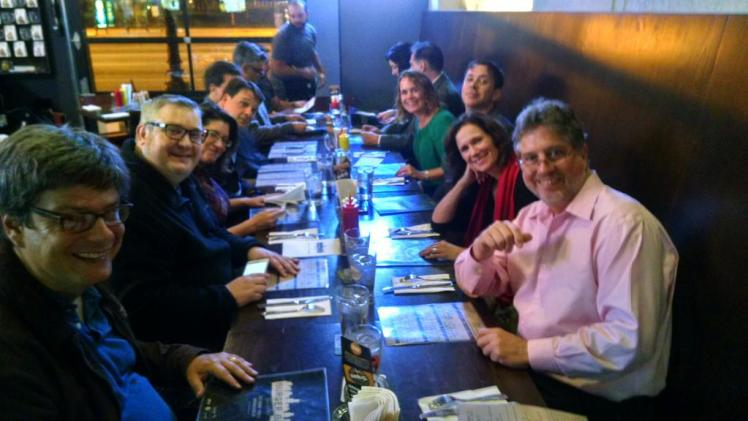 Night on the town with #LION15 compadres, at the Burger Bar Chicago, S. Michigan Ave. Cheers! (David Boraks photo)