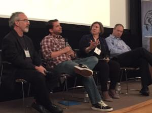 Kelly Gilfillan ‏@Kelly_Gilfillan 6h6 hours ago Chicago, IL @nberke @davidboraks and @mikefourcher were brave today at #LION15 to talk about closing. That's Jan Schaffer of J-Lab moderating. (Kelly Gilfillan photo)