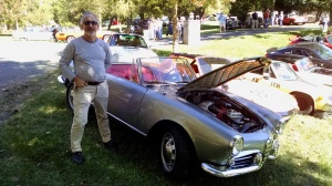 My grandfather, Henry Boraks, drove a similar vintage Alfa Romeo when he lived in Europe in the late 1950s, early 1960s. (Shelley Rigger photo)
