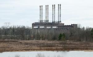 Duke Energy has retired the coal-burning power plant at Riverbend, on Mountain Island Lake. (David Boraks photo)