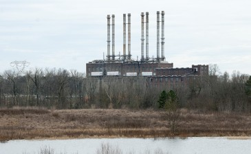 Duke Energy has retired the coal-burning power plant at Riverbend, on Mountain Island Lake. (David Boraks photo)