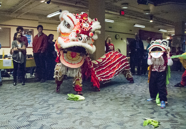 Dancers performed at the 2015 Davidson College lunar new year festival. (David Boraks photo)