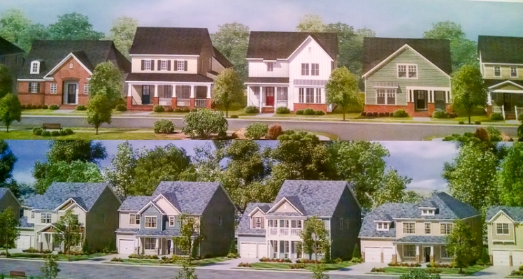 Lennar showed drawings of what the WestBranch single-family homes might look like.