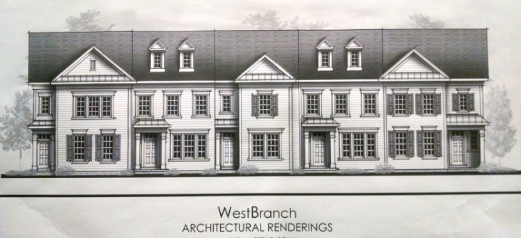 Drawings of proposed town  houses.