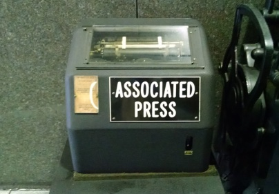 And what about this? It's an old AP teletype - the way we used to receive wire copy. (David Boraks photo)