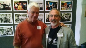 I stopped for a photo with Rolfe Neill, former publisher of The Observer.