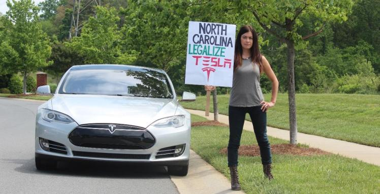 Environmental activist and race car driver Leilani Munter of Cornelius says the DMV should grant Tesla a dealer license in Charlotte. (leilani.green photo)