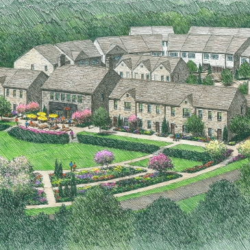 Artist's rendering of the proposed Antiquity Woods, off South Street.