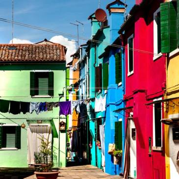 colorful houses Photo by Heather Hanson