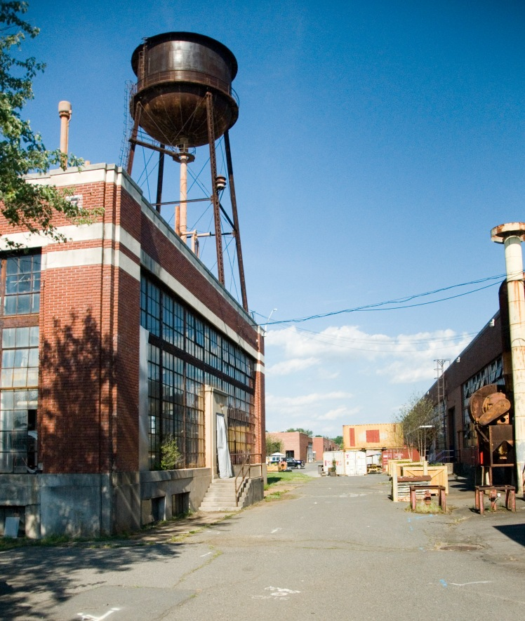 ATCO plans to redevelop the old factory complex off Statesville Road. (David Boraks/WFAE)