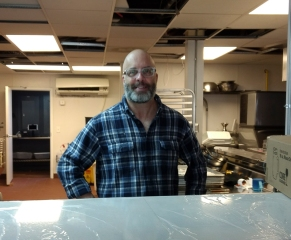 Chef Bill Schutz, who also oversees the kitchen at Flatiron across the street, is the chef partner. (David Boraks photo)